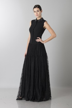 Long dress with side transparencies - Ports 1961 - Rent Drexcode - 2