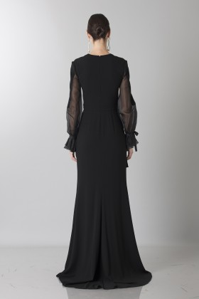 Silk dress with long sleeve and transparent neckline - Ports 1961 - Rent Drexcode - 2
