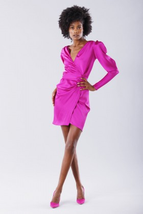 Short fuchsia dress - Rhea Costa - Rent Drexcode - 1