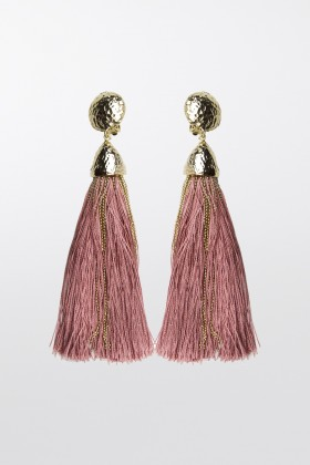 Gold and pink rope earrings - Rosantica - Sale Drexcode - 2