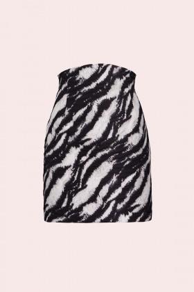 Minigonna in stampa zebra - Redemption - Rent Drexcode - 1