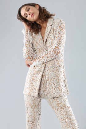 Ivory lace suit with sequins - Forever unique - Rent Drexcode - 1