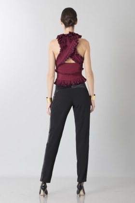 Bordeaux top with ruffles - Antonio Berardi - Sale Drexcode - 2