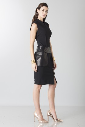 Sheath dress with leather details - Jean Paul Gaultier - Rent Drexcode - 2