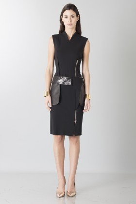 Sheath dress with leather details - Jean Paul Gaultier - Rent Drexcode - 1