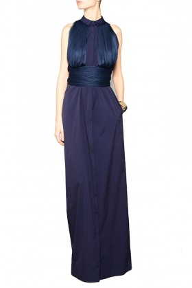 Shirtdress with draped silk tulle - Vionnet - Sale Drexcode - 2