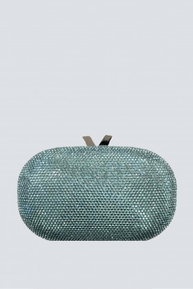 Light blue clutch with glitter - Anna Cecere - Sale Drexcode - 1