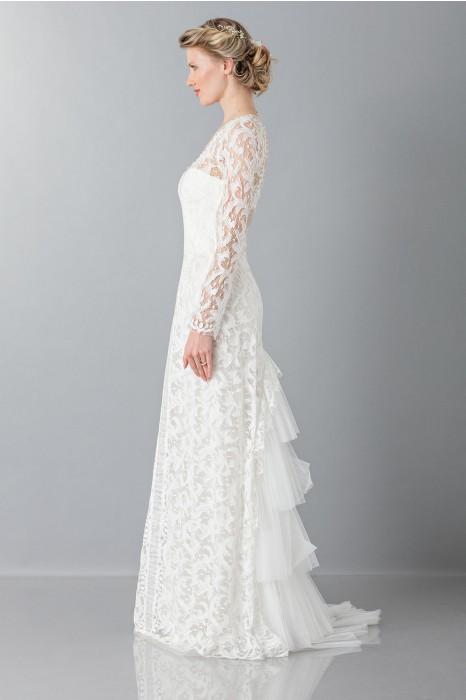 Abiti Da Sposa Ferretti.Drexcode Alberta Ferretti Lace Wedding Dress Rent Luxury Dress