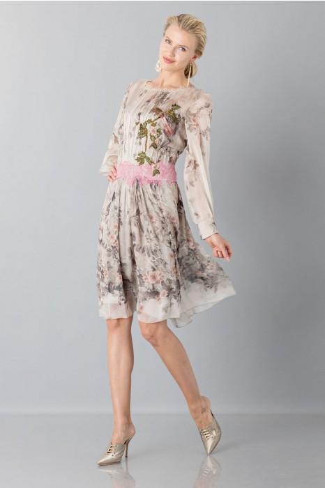 on sale 95bce 4dc1e Silk chiffon dress with floral pattern