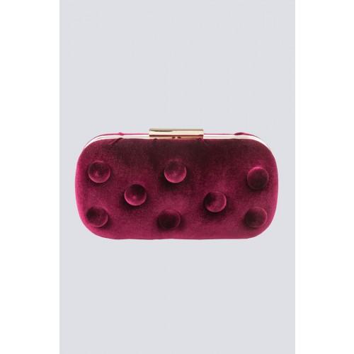 Vendita Abbigliamento Usato FIrmato - Burgundy velvet clutch - Anna Cecere - Drexcode -9