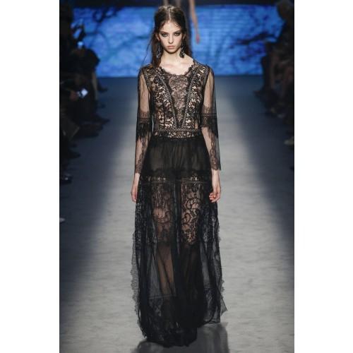 Vendita Abbigliamento Usato FIrmato - Long dress with lace decorations - Alberta Ferretti - Drexcode -1