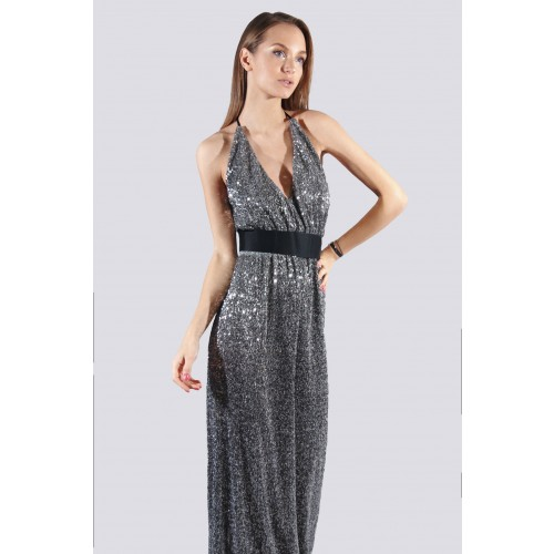 Vendita Abbigliamento Usato FIrmato - Abito lungo con micro-paillettes - DREX for you - Drexcode -2