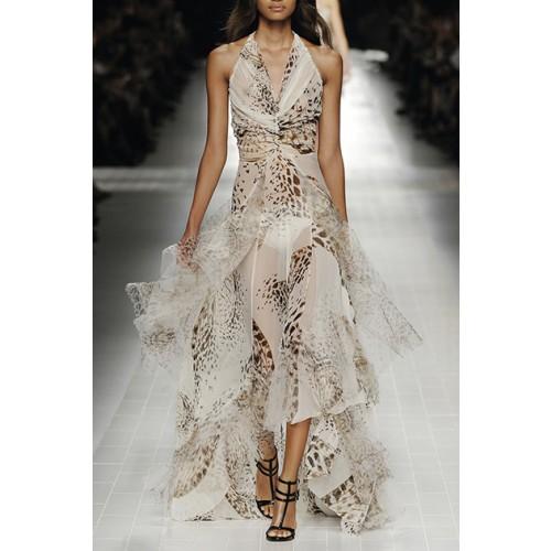 Vendita Abbigliamento Usato FIrmato - Animalier silk dress - Blumarine - Drexcode -1