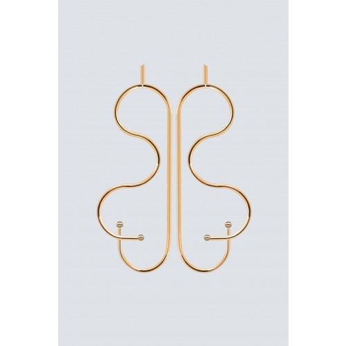 Vendita Abbigliamento Usato FIrmato - Gold butterfly-shaped earrings - Noshi - Drexcode -1