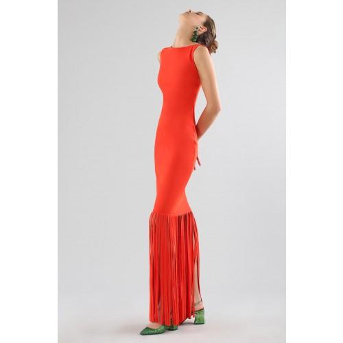Vendita Abbigliamento Usato FIrmato - Red dress with fringes - Chiara Boni - Drexcode -16
