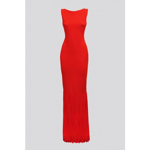 Vendita Abbigliamento Usato FIrmato - Red dress with fringes - Chiara Boni - Drexcode -12