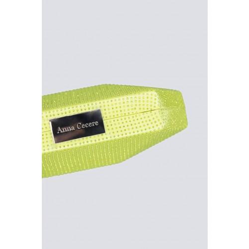 Vendita Abbigliamento Usato FIrmato - Geometric lemon clutch with rhinestones - Anna Cecere - Drexcode -2