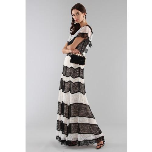Vendita Abbigliamento Usato FIrmato - Striped lace off shoulder dress - Alice+Olivia - Drexcode -12