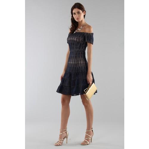 Vendita Abbigliamento Usato FIrmato - Off-shoulder blue lace dress - ML - Monique Lhuillier - Drexcode -12
