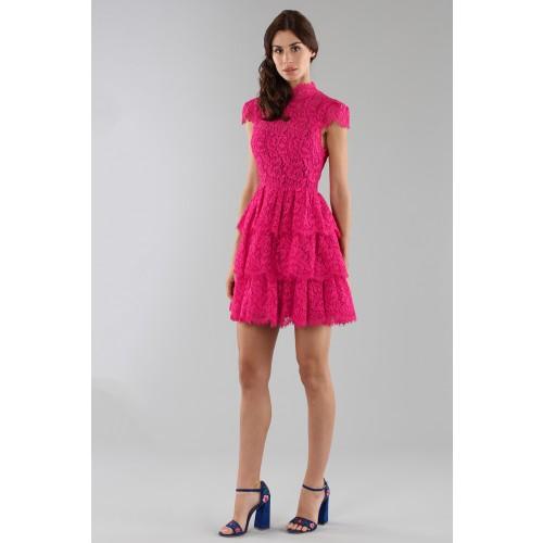Vendita Abbigliamento Usato FIrmato - Fuchsia lace dress with skir - Alice+Olivia - Drexcode -7