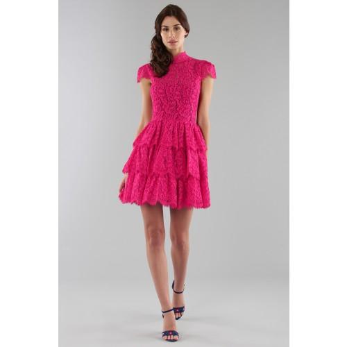 Vendita Abbigliamento Usato FIrmato - Fuchsia lace dress with skir - Alice+Olivia - Drexcode -4