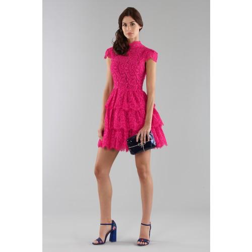 Vendita Abbigliamento Usato FIrmato - Fuchsia lace dress with skir - Alice+Olivia - Drexcode -6