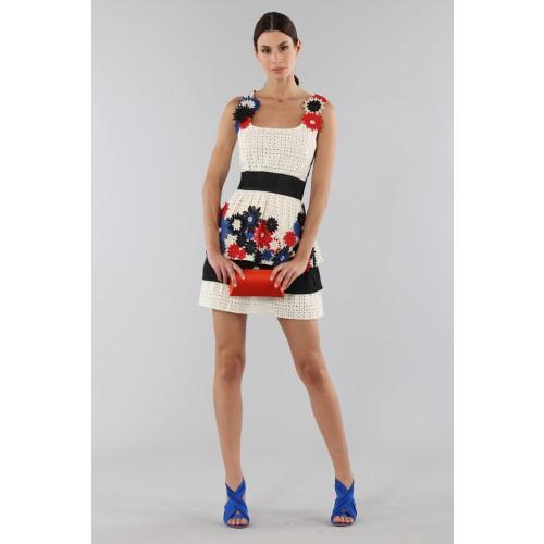 Vendita Abbigliamento Usato FIrmato - Embroidered dress with applied flowers - Emanuel Ungaro - Drexcode -1