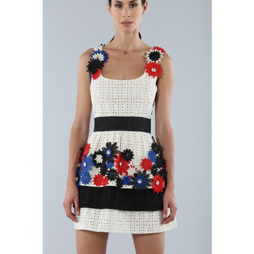 Vendita Abbigliamento Usato FIrmato - Embroidered dress with applied flowers - Emanuel Ungaro - Drexcode -5