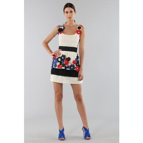 Vendita Abbigliamento Usato FIrmato - Embroidered dress with applied flowers - Emanuel Ungaro - Drexcode -4