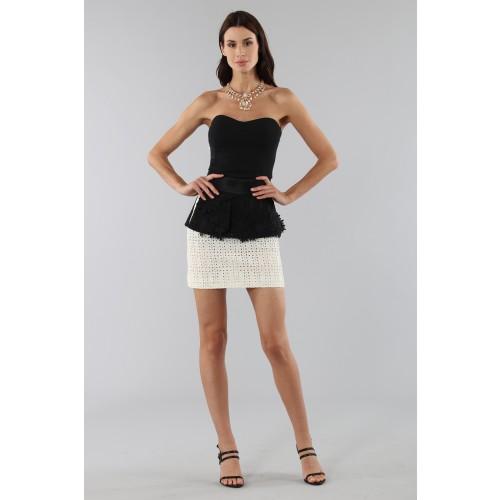 Vendita Abbigliamento Usato FIrmato - Embroidered skirt with volant - Emanuel Ungaro - Drexcode -4