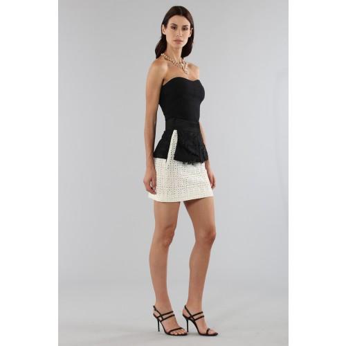 Vendita Abbigliamento Usato FIrmato - Embroidered skirt with volant - Emanuel Ungaro - Drexcode -5