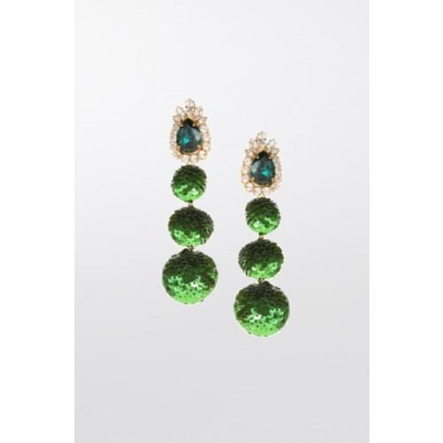Vendita Abbigliamento Usato FIrmato - Earrings in green sequins - Shourouk - Drexcode -3