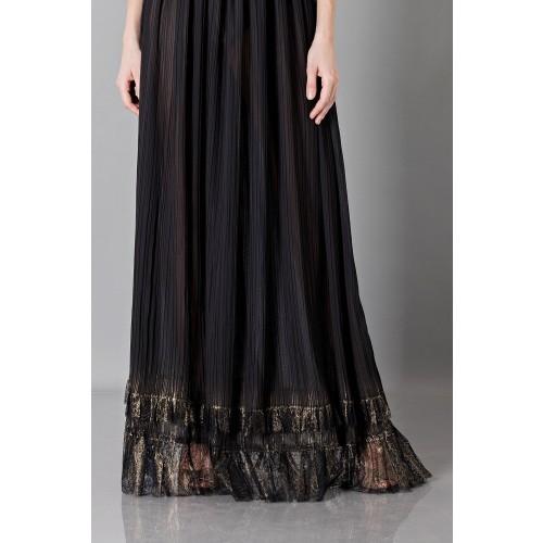 Vendita Abbigliamento Usato FIrmato - Long black dress with V-neck - Alberta Ferretti - Drexcode -1