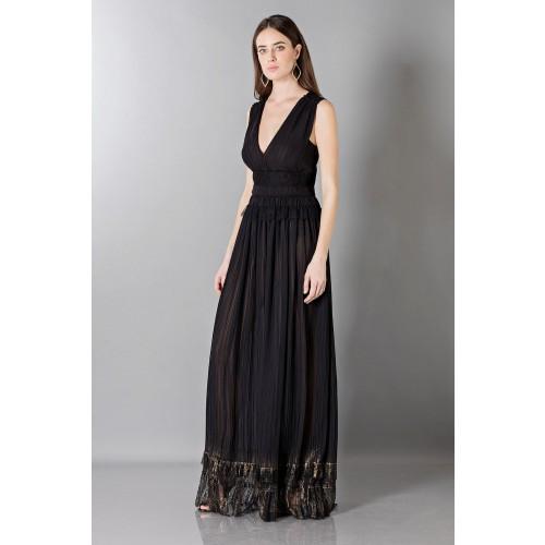 Vendita Abbigliamento Usato FIrmato - Long black dress with V-neck - Alberta Ferretti - Drexcode -4