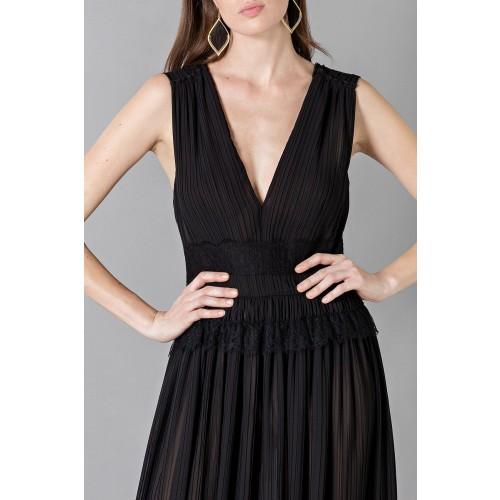 Vendita Abbigliamento Usato FIrmato - Long black dress with V-neck - Alberta Ferretti - Drexcode -5