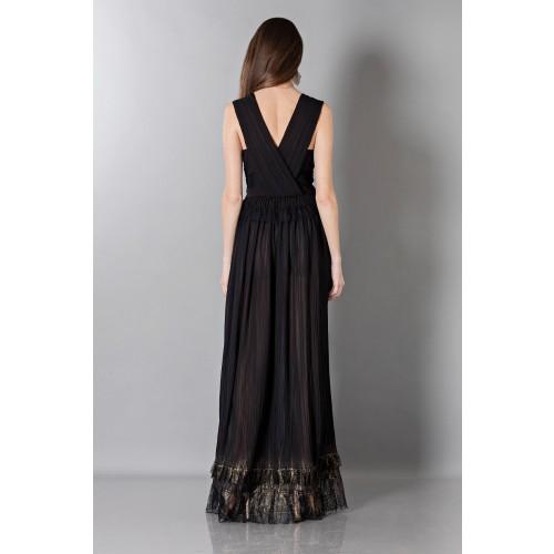 Vendita Abbigliamento Usato FIrmato - Long black dress with V-neck - Alberta Ferretti - Drexcode -6