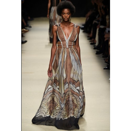 Vendita Abbigliamento Usato FIrmato - Ethinc floor-length dress - Alberta Ferretti - Drexcode -1