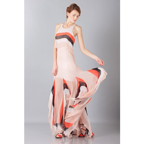 Vendita Abbigliamento Usato FIrmato - Striped floor-length dress - Blumarine - Drexcode -4