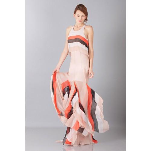 Vendita Abbigliamento Usato FIrmato - Striped floor-length dress - Blumarine - Drexcode -3