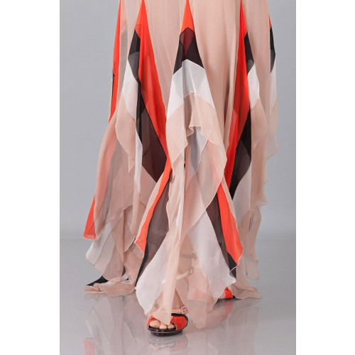 Vendita Abbigliamento Usato FIrmato - Striped floor-length dress - Blumarine - Drexcode -1