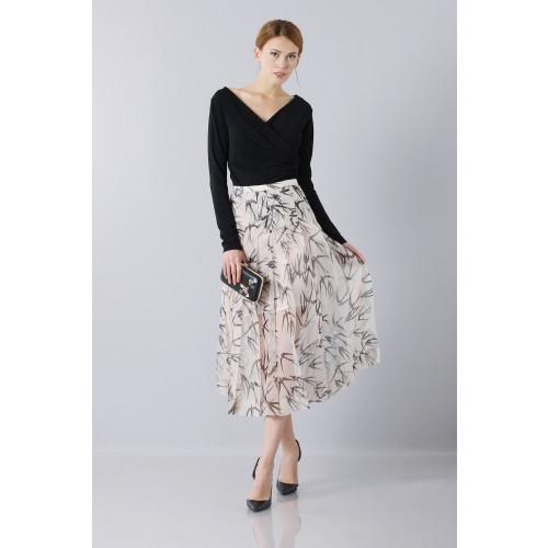 Vendita Abbigliamento Usato FIrmato - Longuette skirt patterned with swallows - Rochas - Drexcode -3