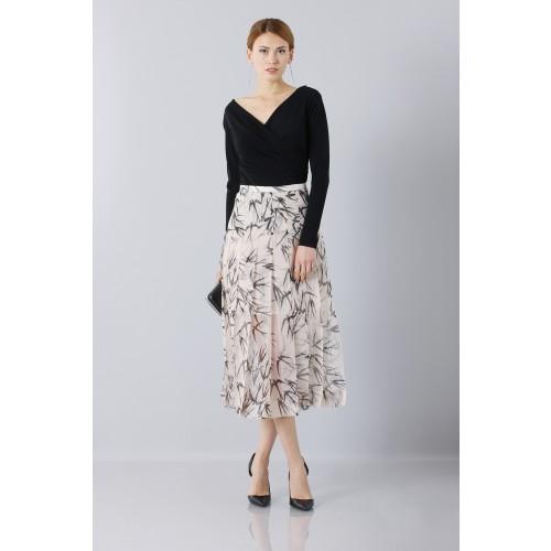 Vendita Abbigliamento Usato FIrmato - Longuette skirt patterned with swallows - Rochas - Drexcode -5
