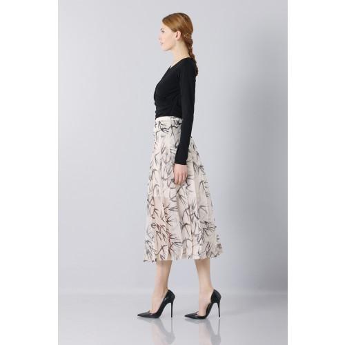 Vendita Abbigliamento Usato FIrmato - Longuette skirt patterned with swallows - Rochas - Drexcode -4