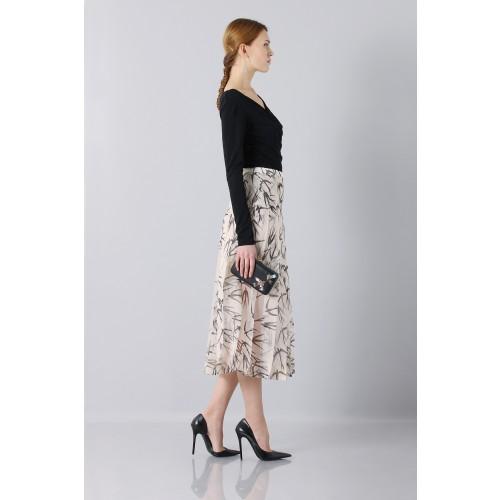 Vendita Abbigliamento Usato FIrmato - Longuette skirt patterned with swallows - Rochas - Drexcode -2