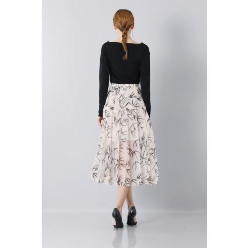 Vendita Abbigliamento Usato FIrmato - Longuette skirt patterned with swallows - Rochas - Drexcode -1