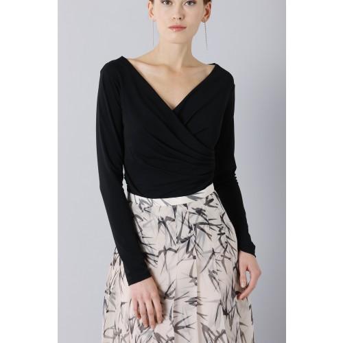 Vendita Abbigliamento Usato FIrmato - Longuette skirt patterned with swallows - Rochas - Drexcode -6