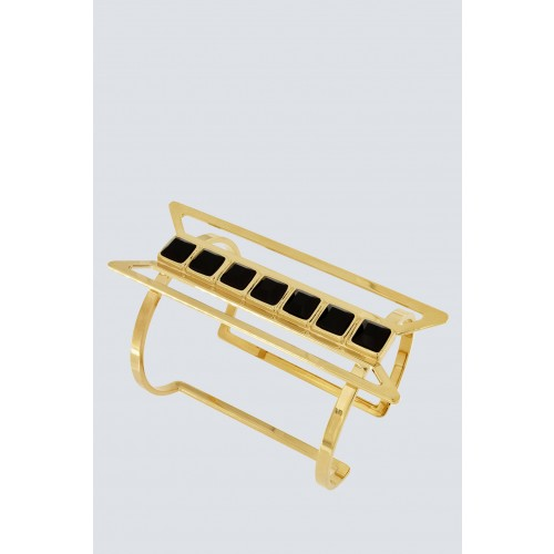Vendita Abbigliamento Usato FIrmato - Bracelet with black Swarovski - Natama - Drexcode -1