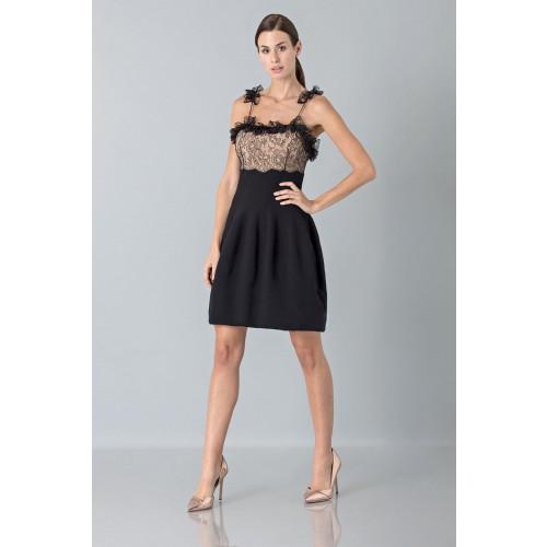 Vendita Abbigliamento Usato FIrmato - Dress with shoulder straps of processed lace - Blumarine - Drexcode -4