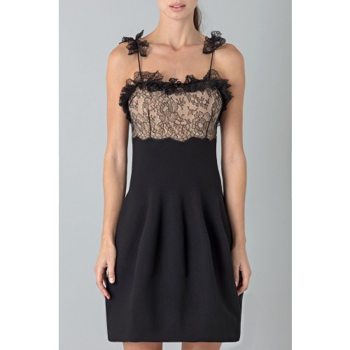 Vendita Abbigliamento Usato FIrmato - Dress with shoulder straps of processed lace - Blumarine - Drexcode -3