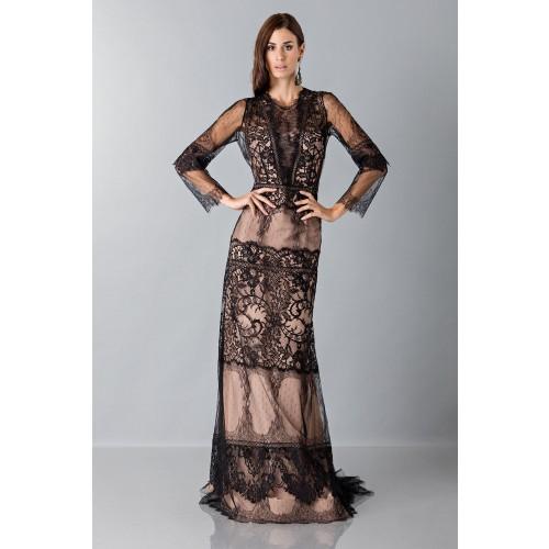 Vendita Abbigliamento Usato FIrmato - Long dress with lace decorations - Alberta Ferretti - Drexcode -6